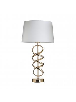 Настолна лампа метална с бяла шапка