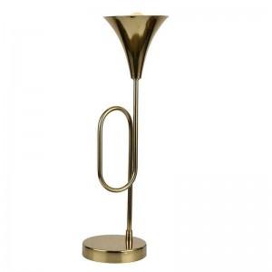 Настолна метална лампа тромпет