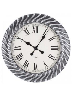 Стенен часовник сребро антик