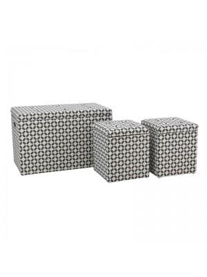 Табуретки-ракла в сиво и бяло к-т 3 броя