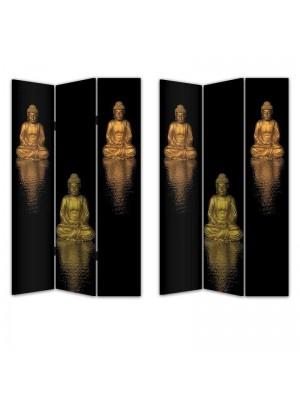 Двулицев параван с фигури Буда