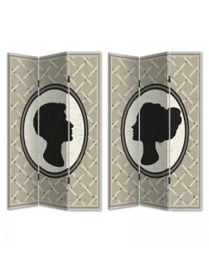 Двулицев параван профили мъж и жена