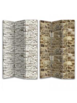 Двулицев параван каменна стена