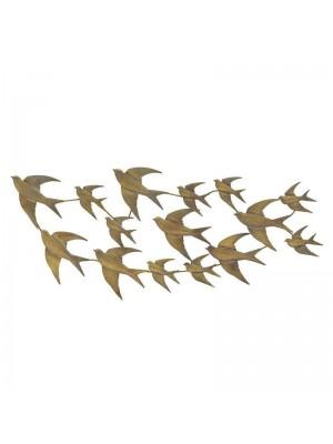 Метално пано птици