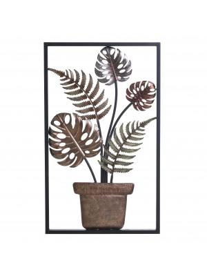 Стенно метално пано растение