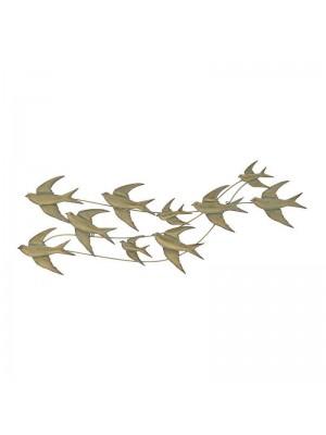 Стенно метално пано птици