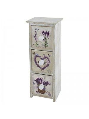 Кутия за бижута lavender decor/3 чекмеджета