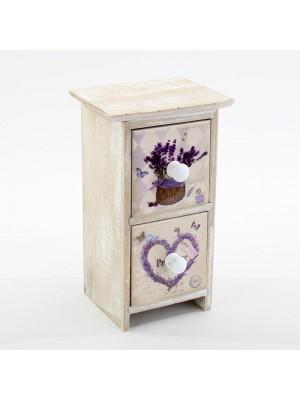 Кутия за бижута lavender /2 чекмеджета