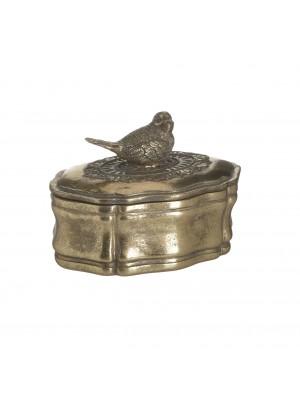 Кутия от полирезин с птичка