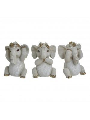 Слончета от полирезин сет 3бр