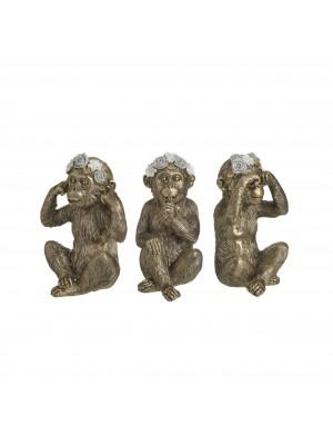 Сет маймуни от полирезин 3 броя