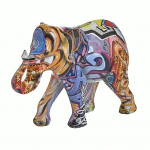 Шарен слон от полирезин