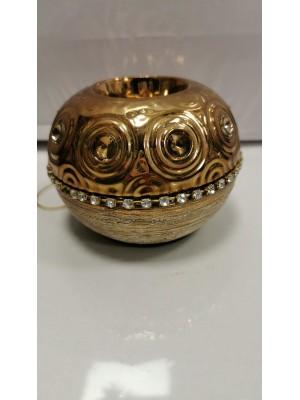 Свещник злато с камъни