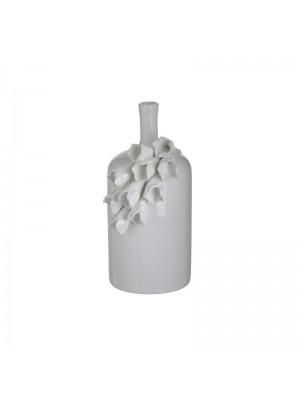 Бяла керамична ваза