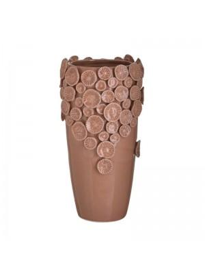 Керамична ваза цвят корал