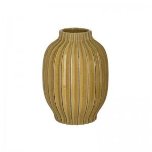 Жълта керамична ваза