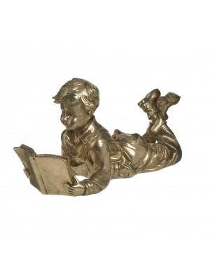Фигура от полирезин четящо момче