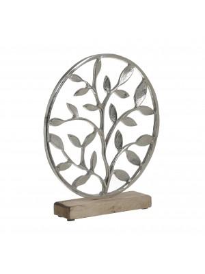 Настолна декорация метал/дърво