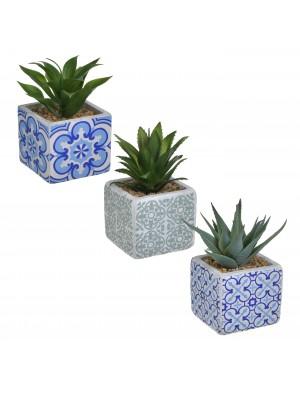 Изкуствено растение в кашпа в 3 дизайна
