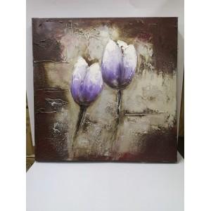 Картина лилави лалета