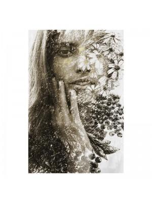 Картина принт жена с цветя