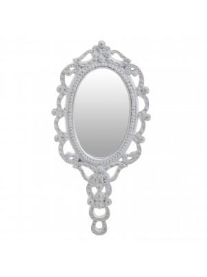 Ръчно огледало с полирезинова рамка