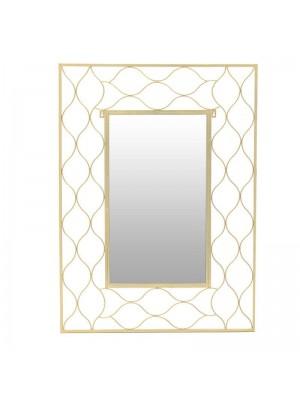 Стенно огледало със златна метална рамка