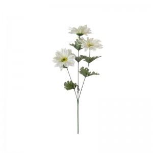 Клонче изкуствен бял гербер с 3 цвята