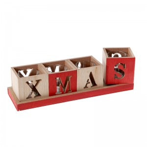 Коледна декорация свещник x'mas