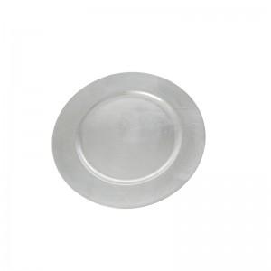 Коледно декоративно плато d33cm silver
