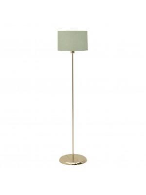 Метален лампион в златно със зелена шапка