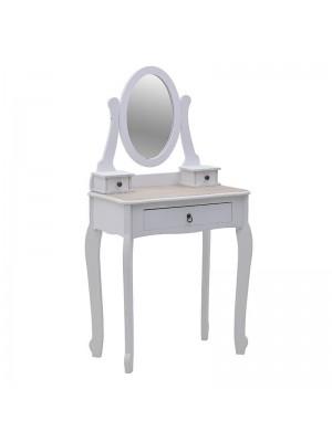 Дървена тоалетка с огледало