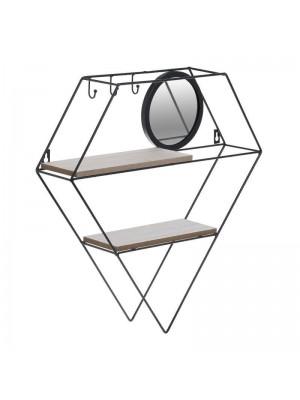 Стенна етажерка с огледало