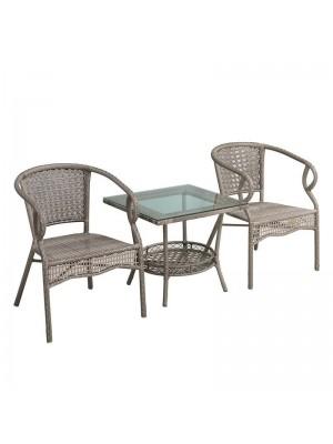 Градински сет маса с 2 ратанови стола