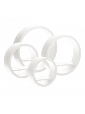 Стенна етажерка кръгове