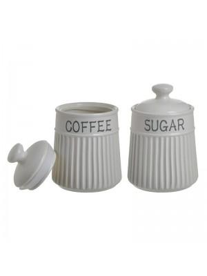 ПОРЦЕЛАНОВИ БУРКАНИ Coffee/Sugar СЕТ 2БР