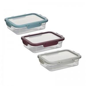 Кутия за храна в 3 цвята