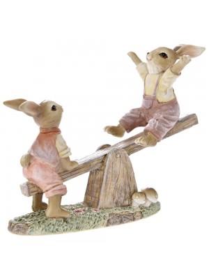 Великденски зайчета на люлка