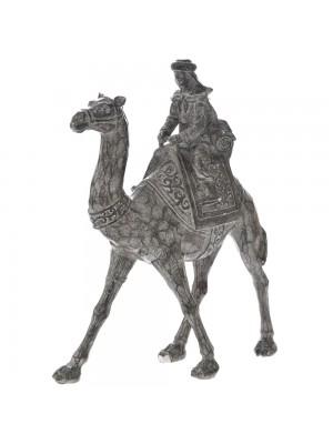 POLYRESIN DECO CAMEL 34CM W RIDER
