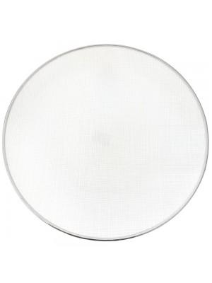 GLASS DECO PLATE D 33 CM SILVER