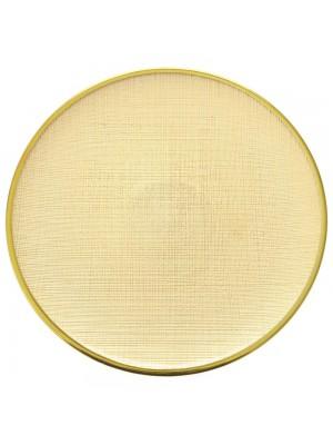 GLASS DECO PLATE D 26 CM GOLD