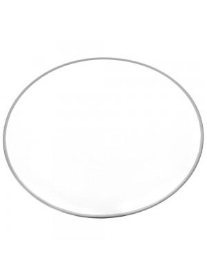 GLASS DECO PLATE D 30 CM SILVER RIM