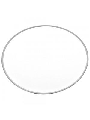 GLASS DECO PLATE D 26 CM SILVER RIM