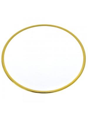GLASS DECO PLATE D 21 CM GOLD RIM