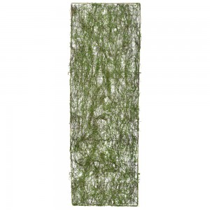 METAL FENCE WITH GREEN MOSS 50X180CM