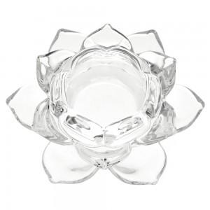 Стъклен свещник цвете