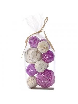 Декоративни ратанови топки X10 лилави