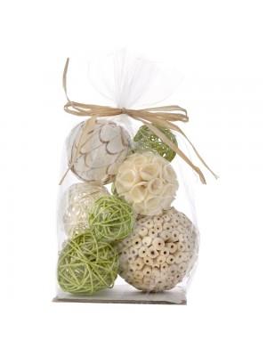 Декоративни ратанови топки X10 зелени
