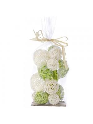 Декоративни ратанови топки X15 зелени