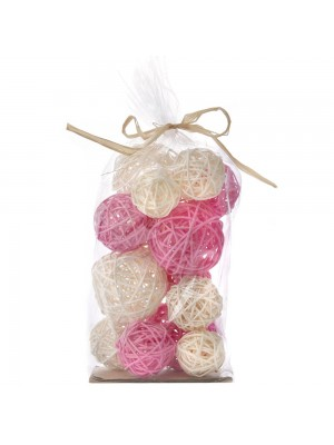 Декоративни ратанови топки X15 розови
